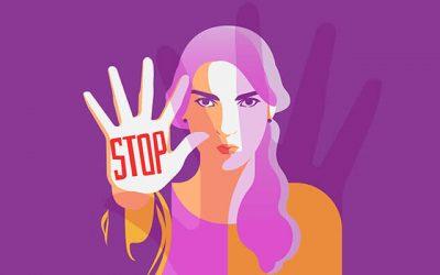 Ganador en el concurso de carteles contra la violencia de género